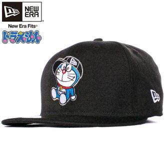 哆啦A梦×新埃拉5950盖子多标识黑色哆啦A梦彩色Doraemon×New Era 59FIFTY Cap Multi Logo Black Doraemon Color