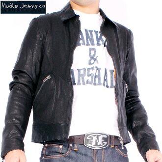 Nudie jeans Johnny leather jacket black NUDIE JEANS JONNY LEATHER JACKET Black
