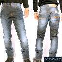 ヌーディージーンズ シンフィン ローヨーク シン スキニーレッグスクラウディ スティール ブルーNudie Jeans THIN FINN LOW YOKE THIN …
