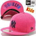 ニューエラ 5950キッズキャップ ニューヨークヤンキース ブライトローズ ミッドナイトネイビー New Era 59Fifty Kids Cap New York Yan…