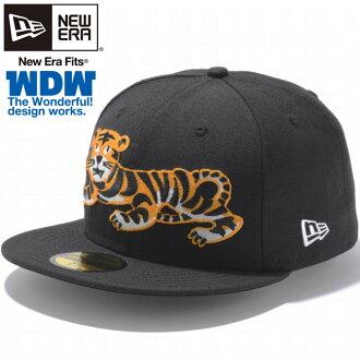 The wonderful design works x new era 5950 caps Tiger black varied The Wonderful design Works×New Era 59FIFTY Cap Tiger Black Golden Peach