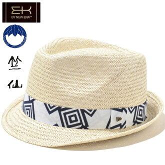 축선(치고전)×이케이바이뉴에라핫트자트리르비 유카타 시리즈 내츄럴 화이트 네이비 Chikusen×EK by New Era Hat The Trilby Yukata Series Natural White