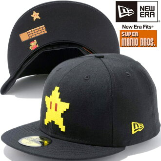 Super Mario Brothers X new gills 5950 cap superstar logo black on blurring gold Super Mario Bros. X New Era 59Fifty Cap Super Star Logo Black Ombre Gold