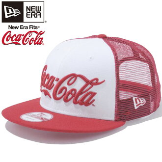 Coca-Cola x new era 950 Snapback Cap CocaCola logo soda series mesh white red mesh Coca Cola×New Era 9 Fifty Cap Coca Cola Logo soda series