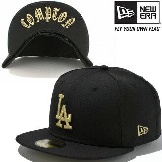 新时代帽 5950 下遮阳板洛杉矶道奇队康普顿黑色黄金新时代 59FIFTY 帽下遮阳板洛杉矶道奇队康普顿