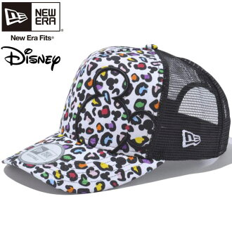 Disney x new era die frame trucker mesh Cap Mickey Mouse multi-Leopard Disney×New Era D-Frame Mesh Cap Mickey Mouse Multi Leopard