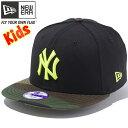 ニューエラ 950 スナップバック キッズ キャップ MLB ニューヨークヤンキース ブラック ウッドランドカモ New Era 9FIFTY Snap Back Ki…