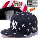ニューエラ 5950キッズ スターズアンドストライプス アンダーバイザー ニューヨーク ヤンキース スタープリント New Era 59FIFTY Kids C...