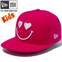 ニューエラ 950 スナップバック キッズ キャップ スマイルコレクション ハート ローズ ホワイト ピンク New Era 9FIFTY Snap Back Kids…
