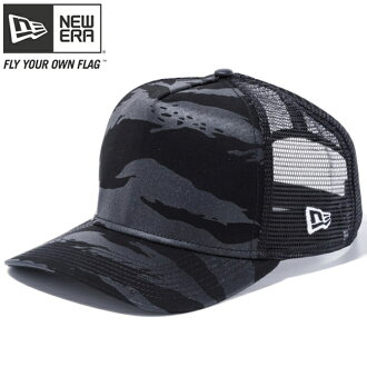 New gills 940 A frame trucker cap Tigers tripe duck black black mesh white New Era 9FORTY A-Frame Trucker Cap Tiger Stripe Camo Black Mesh