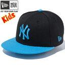 ニューエラ 950 スナップバック キッズ ニューヨークヤンキース ブラック スナップショットブルー ブライトターコイズ New Era 9FIFTY Snap...