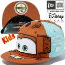 カーズ×ニューエラ 5950キッズキャップ オールオーバー メーター テキサスオレンジ ブルーティント Cars×New Era 59FIFTY Kids Ca...