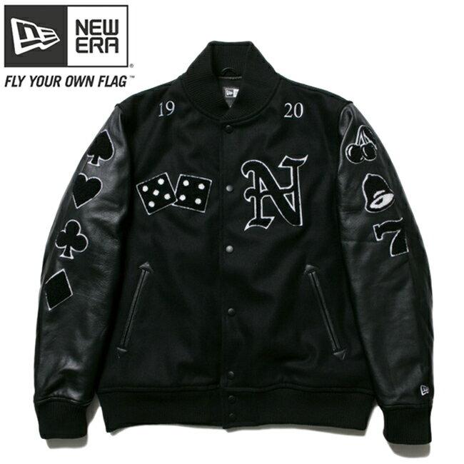ニューエラ スタジアムジャケット フルパッチ ブラック ブラック ブラック ホワイト ホワイト New Era Stadium Jacket Full Patch Black Black Black White White【あす楽対応_近畿】【あす楽対応_中国】【あす楽対応_四国】【あす楽対応_九州】