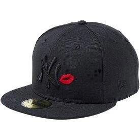 ニューエラ 5950キャップ マルチロゴ ニューヨークヤンキース リップ ブラック ブラック ラディアントレッド ブラック New Era 59FIFTY Cap Multi Logo New York Yankees Lip Black