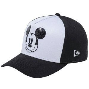 ディズニー×ニューエラ 940キャップ ゴルフ ディーフレームトラッカー シークインド レトロ ミッキーマウス ホワイト Disney×New Era 9FORTY Golf Sequin Retro Mickey Mouse White【あす楽対応_近畿】【あす