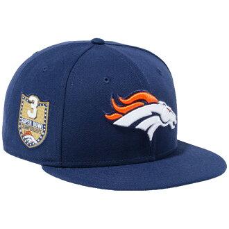 新埃拉950突然彈回蓋子NFL特別定做丹佛野馬隊海景藍色小隊顔色New Era 9FIFTY Snapback Cap NFL Custom Denver Broncos