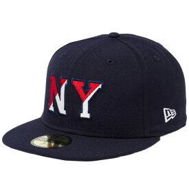 ニューエラ 5950キャップ マルチロゴ ベーシックファブリック ニューヨーク NY ネイビー ミッドナイトネイビー New Era 59FIFTY Cap Multi Logo Basic Fabrics New York NY Navy