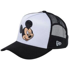 ディズニー×ニューエラ 940キャップ ゴルフ ディーフレームトラッカー ミッキーマウス ウィンク シークインド ホワイト Disney×New Era  9FORTY Cap Golf Mickey Mouse ... 9e379d2a8ff