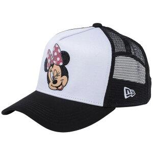 ディズニー×ニューエラ 940キャップ ゴルフ ディーフレームトラッカー ミニーマウス ウィンク Disney×New Era 9FORTY Cap Golf D-Frame Trucker Minnie Mouse Wink Sequined White【あす楽対応_九州】