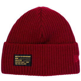 ニューエラ ニットキャップ ミリタリーニット ブラックパッチ レッド ラセット New Era Knit Cap Military Knit Black Patch Red Russet【あす楽対応_近畿】【あす楽対応_中国】【あす楽対応_四国】【あす楽対応_九州】