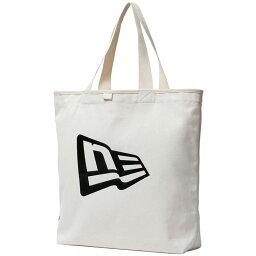 新埃拉包帆布大手提包旗幟標識象牙黑New Era Bag Canvas Tote Bag Flag Logo Ivory Black