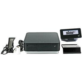 スター精密 キャッシュドロア(キャッシュドロワ)一体型感熱式プリンター mPOP 旧 POP10-B1OF BLK JP 新 POP10-B1 BLK JP バーコードリーダー同梱 セット(カスタマーディスプレイ) USB Bluetooth DK MFi ブラック Star Micronics Cash Drawer Thermal Printer mPOP