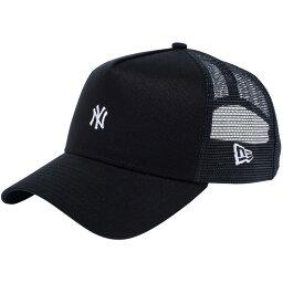 新埃拉940蓋子A架子卡車司機紐約揚基隊小標識黑色New Era 9FORTY Cap A-Frame Trucker New York Yankees Small Logo