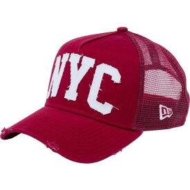 ニューエラ 940 スナップバック キャップ エーフレームトラッカー ダメージ NYC カーディナル New Era 9FORTY Snap Back Cap A-Frame Trucker Damaged NYC