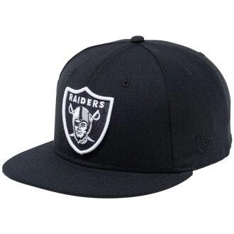 新埃拉950突然彈回蓋子NFL特別定做奥克蘭奇兵隊黑色小隊顔色New Era 9FIFTY Snap Back Cap NFL Custom Oakland Raiders Black Team Color