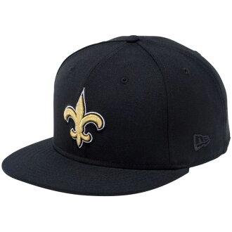 新埃拉950突然彈回蓋子NFL特別定做新奥爾良Saints黑色小隊顔色New Era 9FIFTY Snap Back Cap NFL Custom New Orleans Saints Black