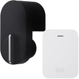 キュリオロック Q-SL2 セット(キュリオ ハブ付き) ブラック Qrio Lock Q-SL2 Set (including Qrio Hub) Black【あす楽対応_近畿】【あす楽対応_中国】【あす楽対応_四国】【あす楽対応_九州】