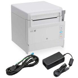セイコーインスツル 据え置き型感熱式プリンター RP-F10シリーズ RP-F10-W27J1-3 セット(ACアダプター、電源ケーブル付き) Ethernet接続 ホワイト Seiko Instruments Stationary Thermal Printer RP-F10 Series RP-F10-W27J1-3