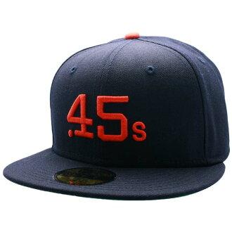 新埃拉蓋子庫巴市鎮特別定做休斯敦Colts.45s深藍/柳丁New Era Cap COOPERS TOWN CUSTOM HOUSTON CULT.45s Navy/Orange