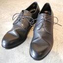 【ポイント11倍】【ノベルティ】 PADRONE パドローネ メンズ DERBY PLAIN TOE SHOES / JACK ジャック BLACK ブラック PU7358-2001-11C ダービープレーントゥ 革靴