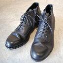 PADRONE パドローネ メンズ  CHUKKA BOOTS with SIDE ZIP / BAGGIO チャッカブーツ バッジオ BLACK ブラック P...