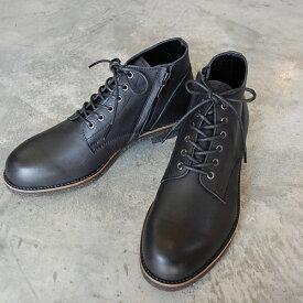 【ポイント11倍】 PADRONE パドローネ メンズ メンズ CHUKKA BOOTS with SIDE ZIP (WATER PROOF LEATHER) / BAGGIO バッジオ ブラック BLACK PU7358-1222-16A 革靴 防水