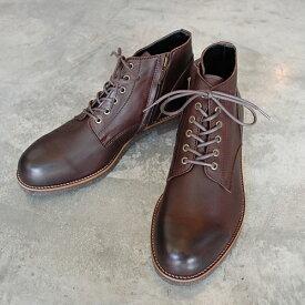 【ポイント11倍】 PADRONE パドローネ メンズ メンズ CHUKKA BOOTS with SIDE ZIP (WATER PROOF LEATHER) / BAGGIO バッジオ DARK BROWN ダークブラウン PU7358-1222-16A 革靴 ブーツ