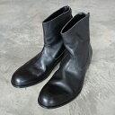 PADRONE(パドローネ) メンズ バックジップブーツ BACK ZIP BOOTS エドワード EDWARD PU7885-1101-11C ブラック BLACK 革靴