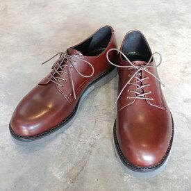 【ポイント11倍】 PADRONE パドローネ メンズ DERBY PLAIN TOE SHOES/ DANTE ダンテ DARK BROWN ダークブラウン PU8759-2001-18C 革靴 アーバンライン