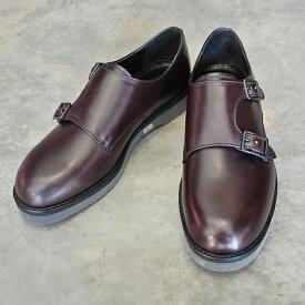 【ポイント11倍】 PADRONE パドローネ PU8759-2002-18C DOUBLE MONK STRAP SHOES / KEI ケイ BLACK ブラック メンズ 革靴 アーバンライン