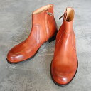 【ポイント11倍】 PADRONE パドローネ SIDE ZIP BOOTS / RAUL ラウル CAMEL キャメル PU7358-1118-15A 革靴 メンズ