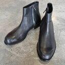 【ポイント11倍】 PADRONE パドローネ SIDE ZIP BOOTS / RAUL ラウル ブラック BLACK PU7358-1118-15A 革靴 メンズ