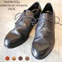 【ポイント11倍】【ノベルティ】 PADRONE パドローネ メンズ DERBY PLAIN TOE SHOES / JACK ジャック PU7358-2001-11C ダービープレーントゥ 革靴