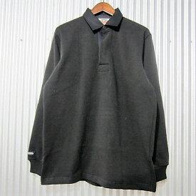 [日本正規品] barbarian [rugby shirts][ess-01][regular][ls][heavy][solid][black] バーバリアン ラガーシャツ レギュラーカラー ヘヴィーウエイト 長袖 ブラック