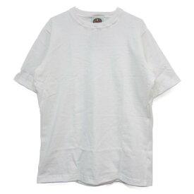 [当店別注] barbarian [crew][ss][light][solid][white] バーバリアン クルー 半袖 ライト 無地 ホワイト