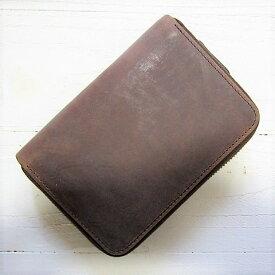 【訳あり】 settler セトラー [zip round compact wallet][ow2534][brown]