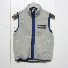 【訳あり】[サイズ限定] wild things ワイルドシングス [knit fleece vest][kids][grey]