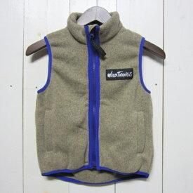 【訳あり】[サイズ限定] wild things ワイルドシングス [knit fleece vest][kids][oaemeal]