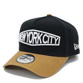 【ニューエラ/メンズ/NEW ERA/ジュニア/帽子/キャップ】 9FORTYAF HEAVY WASHED DUCK NYC CAP ブラックa174a215a