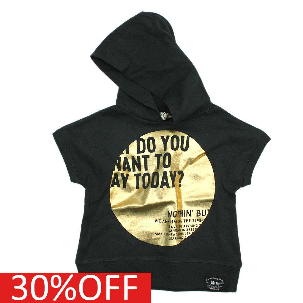 【エフオーキッズ】【子供服】【F.O.KIDS】【子ども服】 フード付きTシャツ ブラック(BK)
